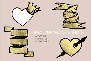 4 Golden Vector Elements