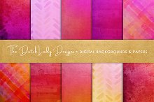 Shiny Red & Pink Scrapbook Papers