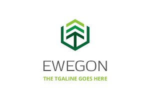 Ewegon Fir Tree Logo Template