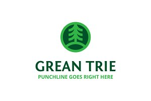 Greantrie Fir Tree Logo Template
