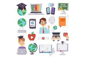 Online education vector languages