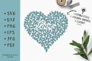 Love Heart - Wedding SVG & Clipart