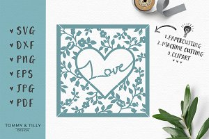 Love Heart Frame - Wedding SVG