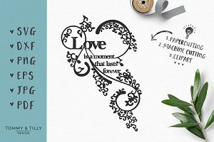 Love is a Moment - Wedding SVG