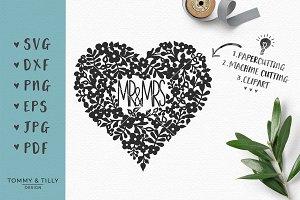Mr Mrs Wreath Wedding Svg Pre Designed Photoshop Graphics Creative Market