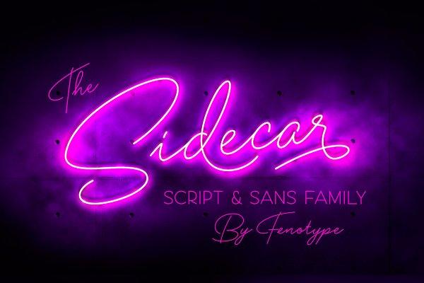 Script Fonts: Fenotype - Sidecar Script & Sans Font
