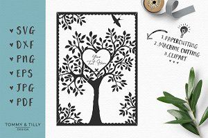 Natural Wedding Tree - SVG Clipart