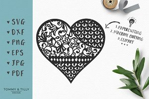Pattern Heart - Wedding SVG Clipart