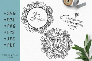 Rose Bouquet - Wedding SVG Clipart
