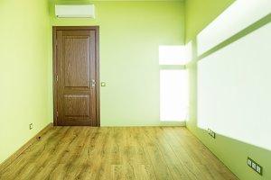 Living room interior of green empty