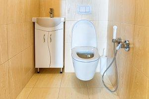 Toilet bathroom interior