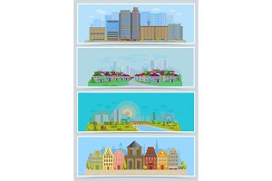 Cityscape vector urban city