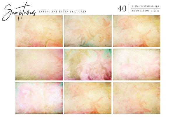 Textures: Eclectic Anthology - Sumptuous Pastel Paper Textures