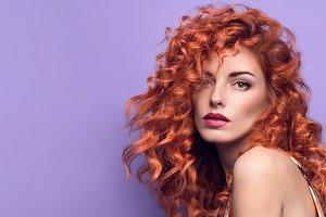Fashion Portrait Sensual Redhead