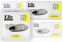 Elle- Shoe Banner For Web Ad