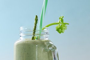 Green smoothie from asparagus and