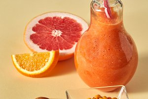 Orange citrus drink with sea