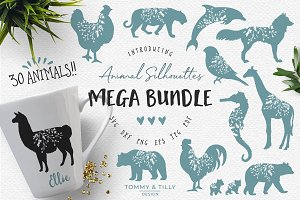Animal Silhouettes Mega Bundle - SVG