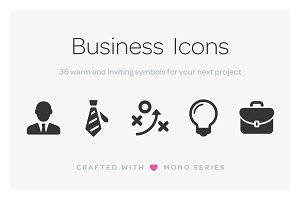Mono Icons: Business