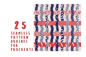 25 Pattern Brushes for Procreate