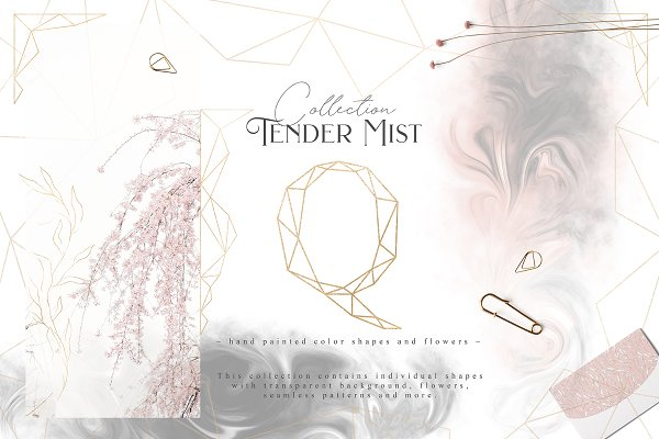 Illustrations and Illustration Products: Julia Dreams - Tender Mist Collection