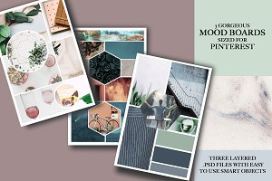 Mood Board Templates | Pinterest