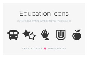 Mono Icons: Education
