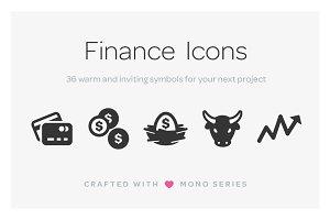 Mono Icons: Finance