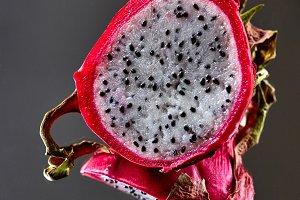 Exotic fruit pitahaya isolated on a
