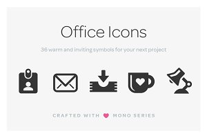 Mono Icons: Office
