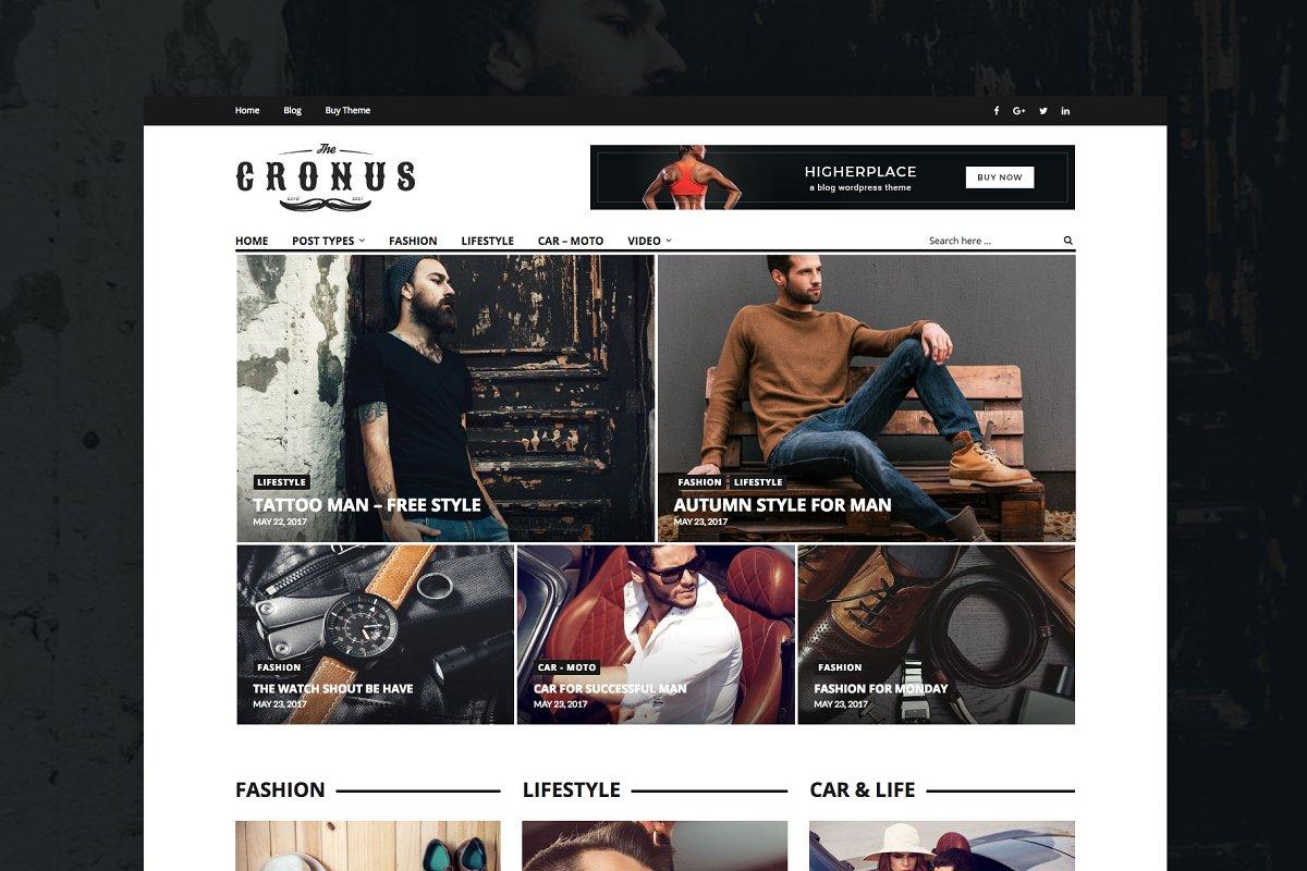 Cronus - Men's Fashion WP Magazine  in WordPress Magazine Themes