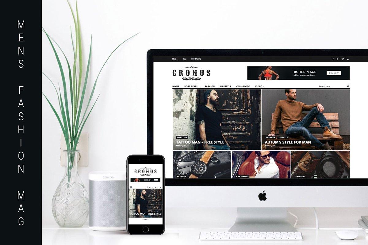 Cronus - Men's Fashion WP Magazine  in WordPress Magazine Themes - product preview 1