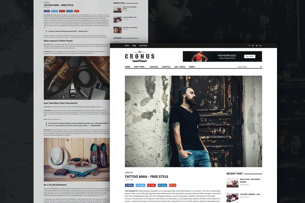 Cronus - Men's Fashion WP Magazine  in WordPress Magazine Themes - product preview 3