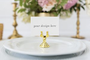 Place Card Mockup with Smart Object