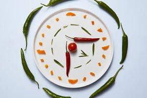 Creative pattern of vegetables -