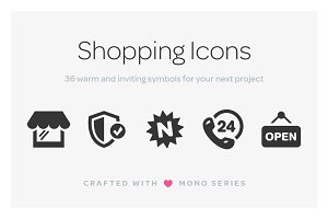 Mono Icons: Shopping