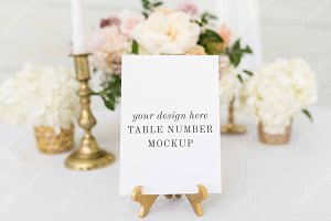 Table Number Mockup