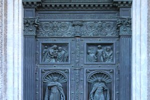 The door of St. Isaac's Cathedral