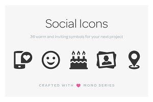 Mono Icons: Social