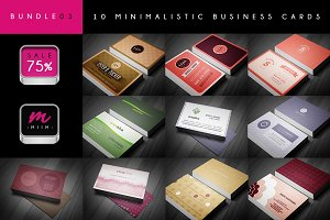(Sale -75%) Business Cards Bundle 03