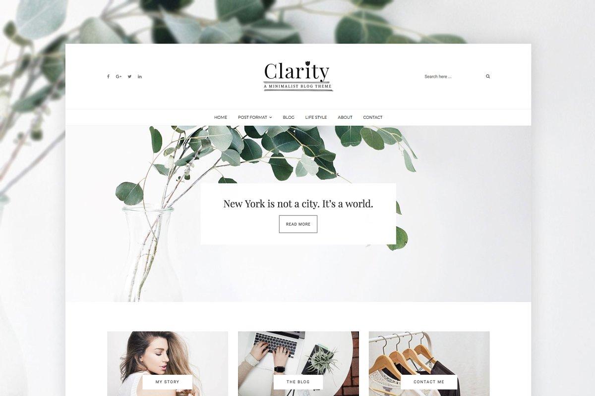 Clarity - Minimal WordPress Theme ~ WordPress Blog Themes ~ Creative