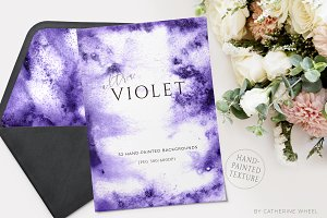 Ultra-Violet Watercolor Texture
