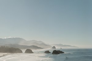 Hazy Cannon Beach Oregon Morning