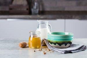 Breakfast Food Concept. Granola