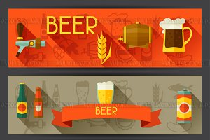 Banners with beer icons.