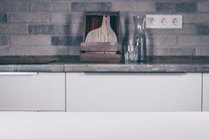 White table on kitchen