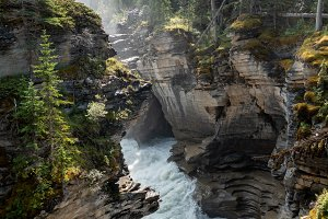 Athabasca falls waterfall in Jasper