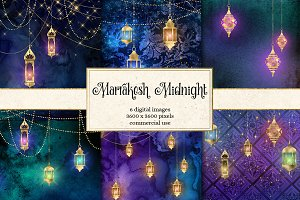 Marrakesh Midnight Backgrounds