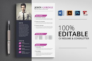 Creative Word CV Resume Template