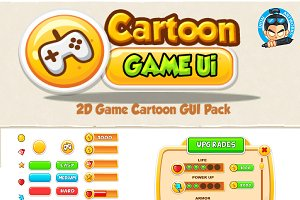 Cartoon Game Ui Set 01
